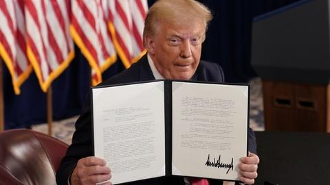 Presidential power questioned after Trump's executive orders