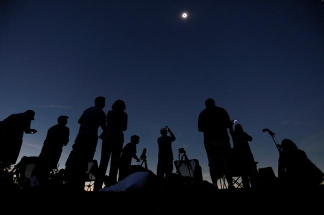 Millions of skygazers marvel at a historic American eclipse
