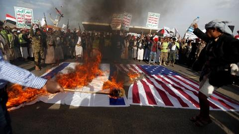 PBS NewsHour -- Protests erupt in Yemen as Trump visits Saudi Arabia