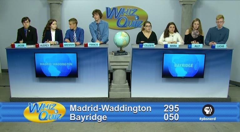 Whiz Quiz: International Championship Madrid-Waddington vs. Bayridge