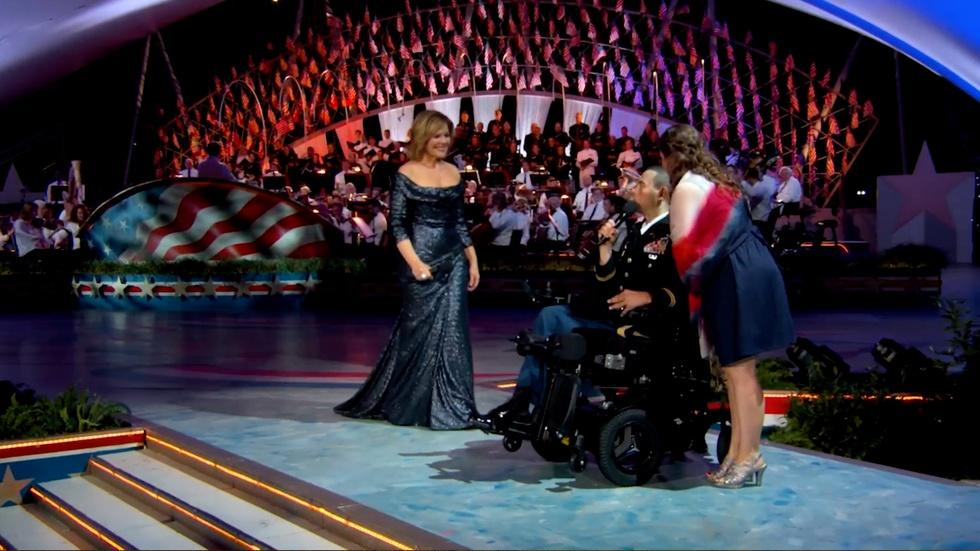 "Renée Fleming and CPT Luis Avila Perform ""God Bless America"" image"
