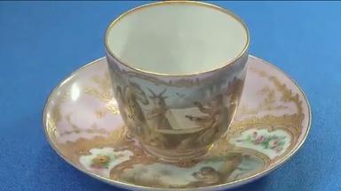 Appraisal: Russian Tea Cup & Saucer, ca. 1845