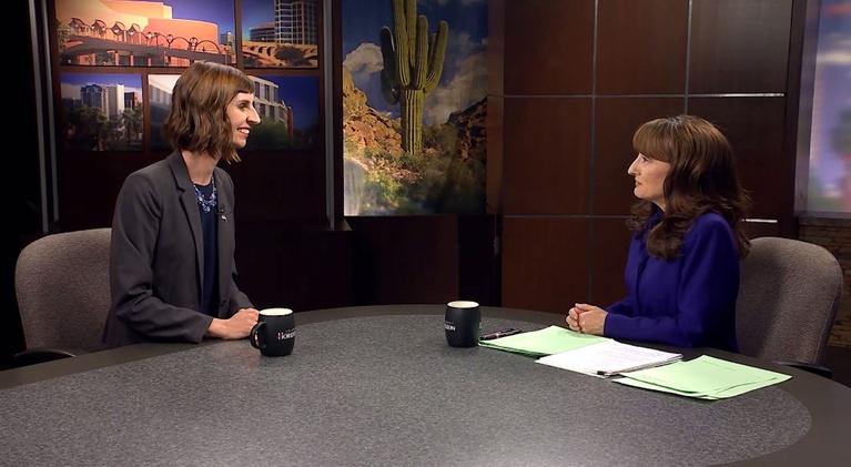 Arizona Horizon: 11/13/2018 Kathy Hoffman DEM , Erma Bombeck, Blind Athlete