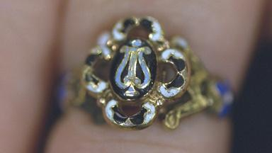 Appraisal: Enameled Compartment Ring, ca. 1830