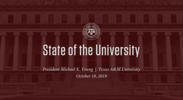 KAMU-TV Specials: 2019 State of the University Address
