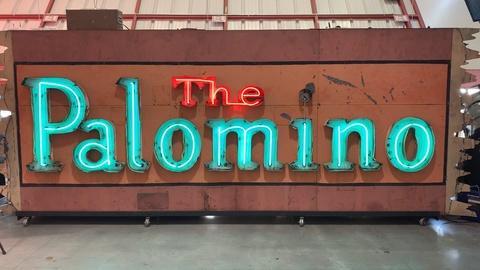 Artbound -- A Flashing Palomino sign