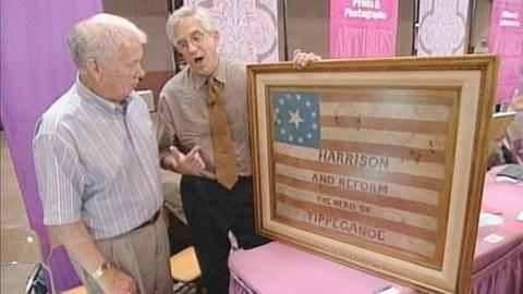 Antiques Roadshow -- S21 Ep22: Appraisal: 1840 Harrison Campaign Flag