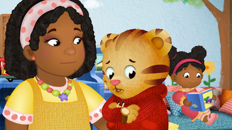 miss elaina wants to read by herself daniel tiger s neighborhood