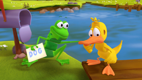 Frog and Duck are Invited to a Sleepover! | Word World