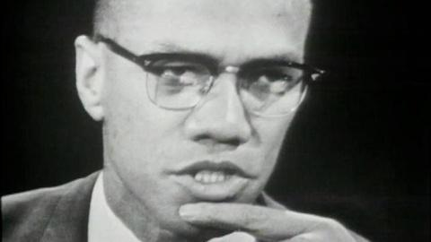 "American Experience -- S16: Malcolm X on ""The Negro and the American Promise"""