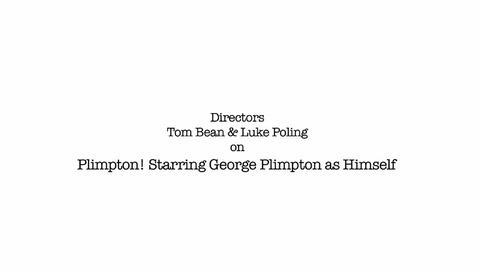 American Masters -- Filmmakers' Interview: Making a Film on George Plimpton