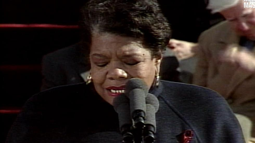 Dr. Angelou's inauguration poem for President Bill Clinton image