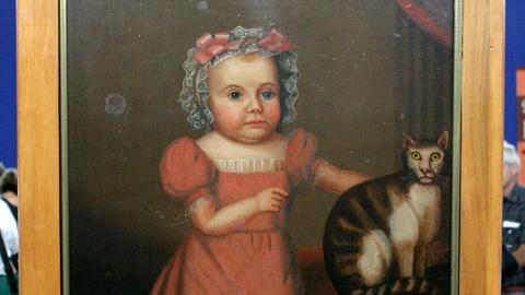 Antiques Roadshow -- S15 Ep21: Appraisal: Folk Art Portrait of a Girl and Her Cat