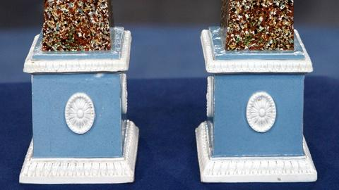 Antiques Roadshow -- S15 Ep4: Appraisal: English Pearlware Obelisks, ca. 1790