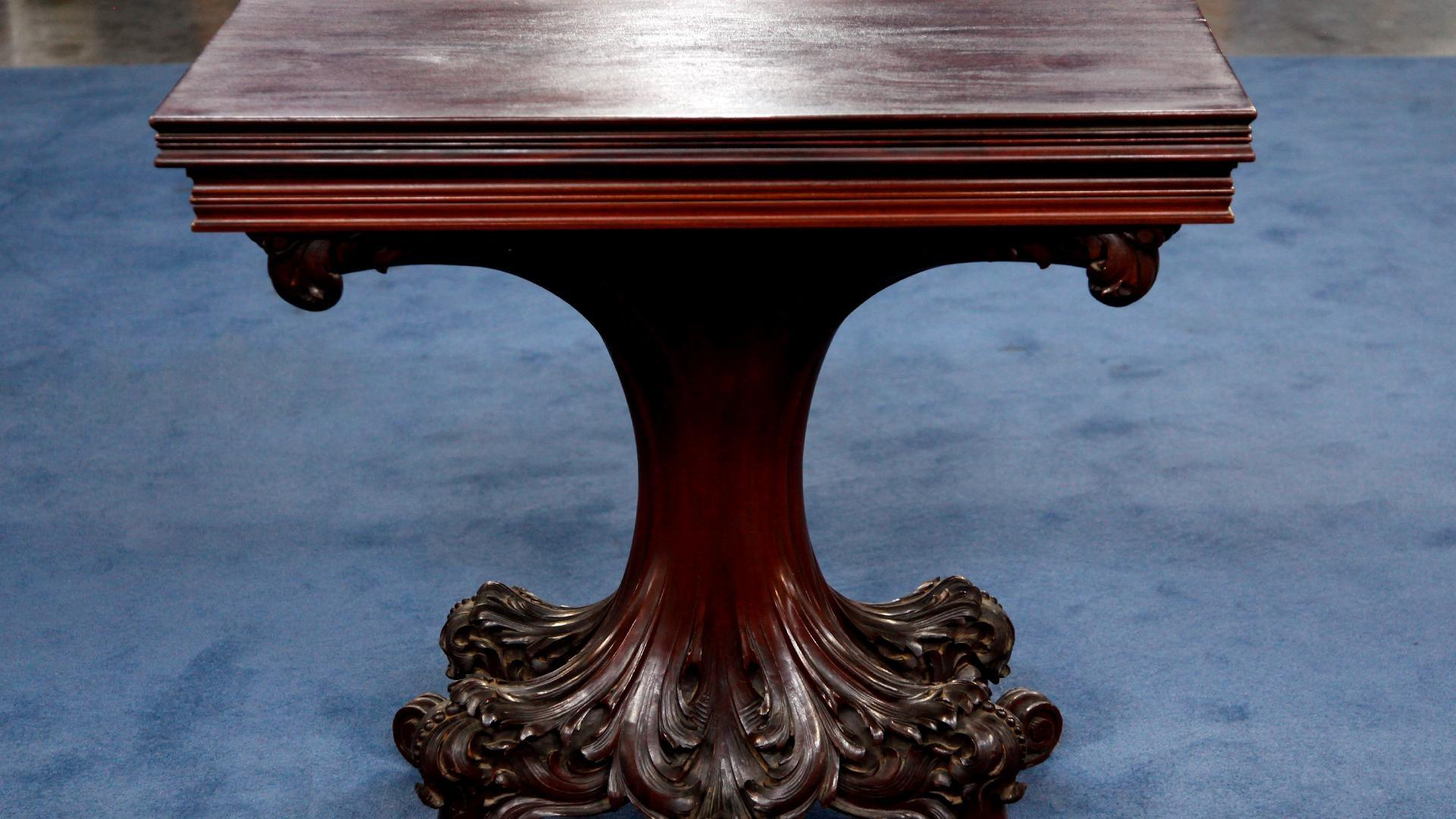 Video S16 Ep14 Appraisal Tobey Furniture Company Card Table Ca Watch Antiques Roadshow