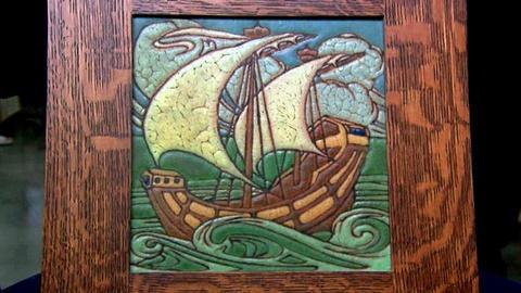 Antiques Roadshow -- S16 Ep13: Appraisal: Grueby Pottery Ship Tile, ca.1910