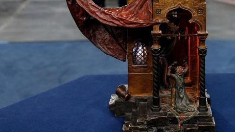 Antiques Roadshow -- S15 Ep12: Appraisal: Franz Bergman Bronze Figural Lamp, ca.