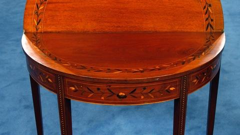 Antiques Roadshow -- S16 Ep8: Appraisal: Hepplewhite Inlaid Games Table, ca. 1810
