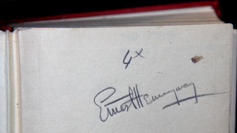 Antiques Roadshow -- S15 Ep11: Appraisal: Hemingway Signed Hat & Book, ca. 1935