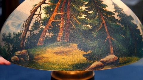 Antiques Roadshow -- S15 Ep11: Appraisal: Handel Lamp with Painted Shade, ca. 190