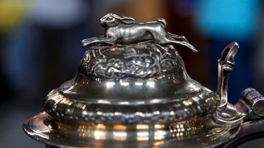 Appraisal: English Silver Hunting Trophy