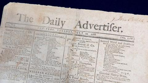 Antiques Roadshow -- S16 Ep7: Appraisal: 1788 New York Daily Advertiser