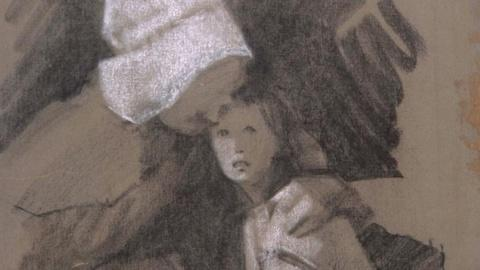"""Antiques Roadshow -- S16 Ep4: Appraisal: Clem Hall """"Rosemary's Baby"""" Drawing, ca."""
