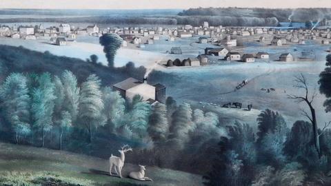 """Antiques Roadshow -- S15 Ep9: Appraisal: """"View of Des Moines"""" Print, ca. 1856"""