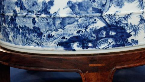 Antiques Roadshow -- S15 Ep2: Appraisal: Chinese Blue and White Porcelain Bath Ba