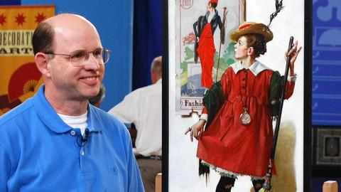 Antiques Roadshow -- S16 Ep4: Owner Interview: 1919 Norman Rockwell Oil on Canvas