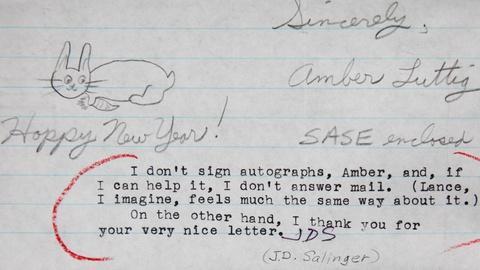 Antiques Roadshow -- S16 Ep3: Appraisal: 1993 J.D. Salinger Initialed Letter