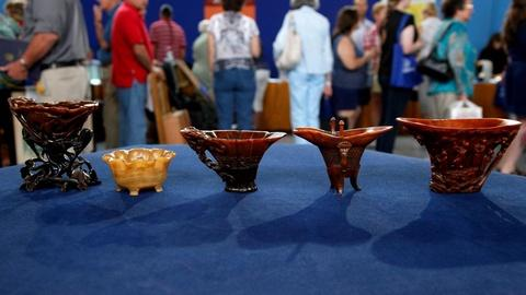 Antiques Roadshow -- S16 Ep1: Appraisal: Chinese Rhinoceros Horn Cups, ca. 1700