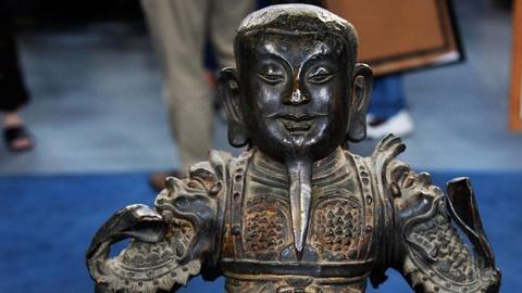 Antiques Roadshow -- S16 Ep3: Appraisal: Chinese Cast Bronze Guardian Figure, ca.