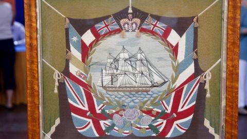 """Antiques Roadshow -- S16 Ep11: Appraisal: """"Woolie"""" Ship Portrait, ca. 1860"""