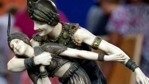 """Antiques Roadshow -- S15 Ep13: Appraisal: 1928 Chiparus """"Persian Dancers"""" Bronze"""