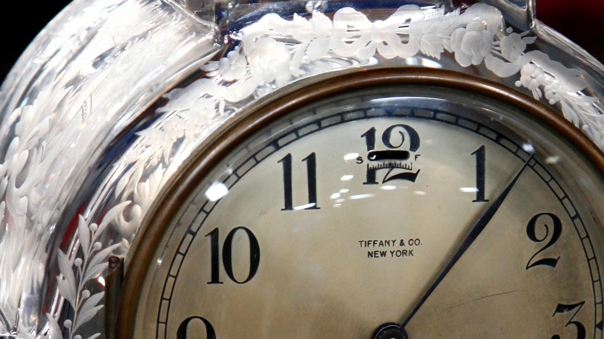Appraisal: Early 20th C. Tiffany Mantel Clock with.