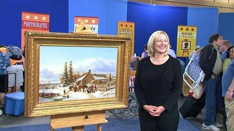 Antiques Roadshow -- S14 Ep4: Owner Interview: Krieghoff Oil Painting