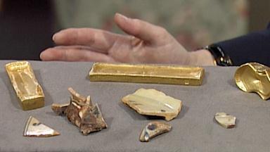 Appraisal: China Trade Shipwreck Gold & Porcelain