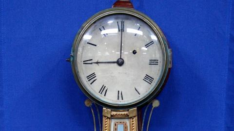 Antiques Roadshow -- S17 Ep20: Appraisal: J. R. Bowen Gilded Banjo Wall Clock, ca