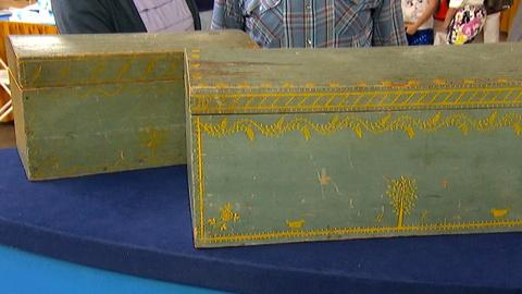 Antiques Roadshow -- S18 Ep3: Appraisal: New England Painted Wooden Boxes