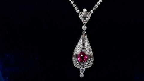 Antiques Roadshow -- S18 Ep3: Appraisal: Ruby & Diamond Necklace, ca. 1920