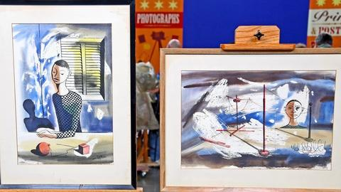 Antiques Roadshow -- S18 Ep4: Appraisal: 1953 Hughie Lee-Smith Watercolors