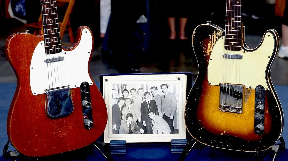 Appraisal: Fender Telecaster Guitars with Beatles Photo image
