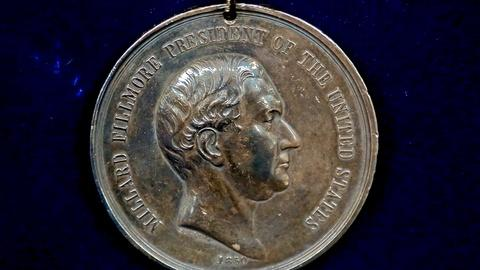Antiques Roadshow -- S18 Ep5: Appraisal: 1850 Millard Fillmore Peace Medal with P