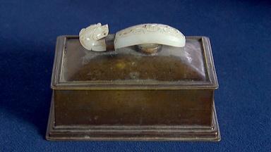 Appraisal: White Jade Mounted Cigarette Box