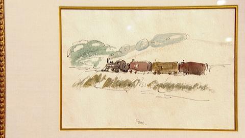 """Antiques Roadshow -- Appraisal: 1934 Arthur G. Dove """"Train"""" Watercolor"""