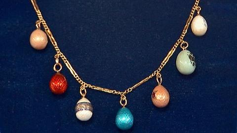 Antiques Roadshow -- S18 Ep9: Appraisal: Russian Enamel Egg Necklace, ca. 1910