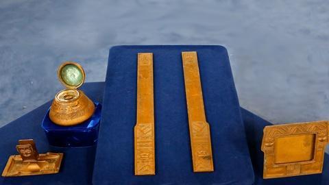 Antiques Roadshow -- S18 Ep9: Appraisal: Tiffany Studios Gilt-Bronze Desk Set, ca