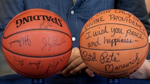 Antiques Roadshow -- S18: Web Appraisal: Utah Jazz & Maravich Signed Basketballs