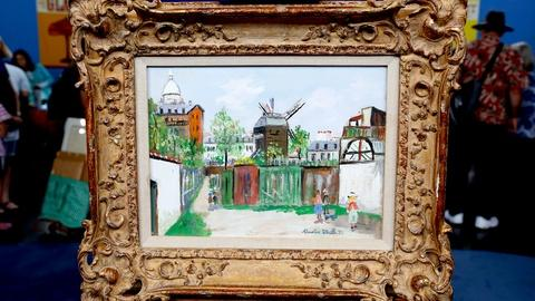 """Antiques Roadshow -- S18 Ep14: Appraisal: Maurice Utrillo """"Sacré-Coeur et Moulin"""""""